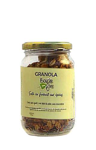Granola salé fenouil épices