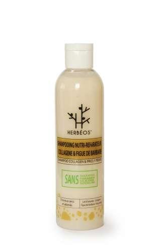 Le shampooing Herbéos au collagène et huile de pépins de figue de Barbarie bio