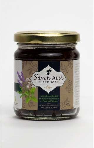 Photo du pot de savon noir  à l'eucalyptus, romarin, et menthe poivrée de la marque Herbalya Natural Care