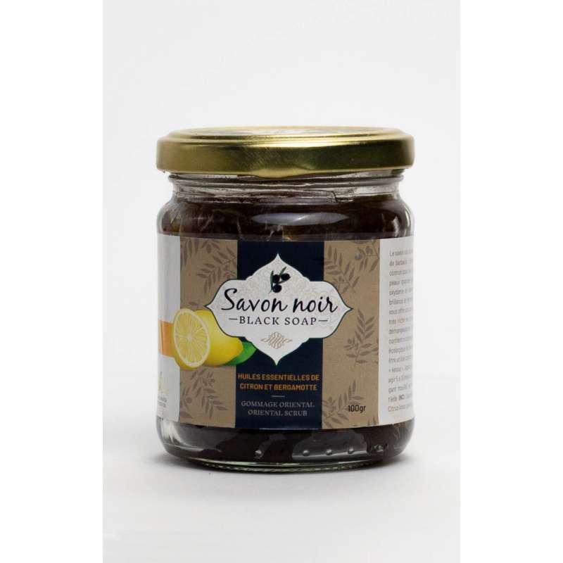 Photo du pot de savon noir au citron et bergamote de la marque Herbalya Natural Care
