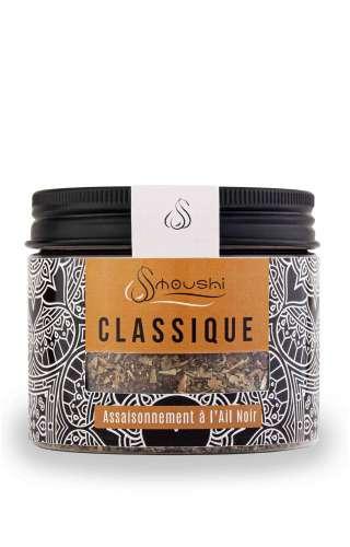 Pot de mélange d'épices : classique ail noir & basilic de la marque Smoushi